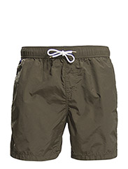 Bright coloured medium length swimshort. Sold in bag. - 66 army