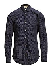 Longsleeve crispy poplin shirt - dessin B