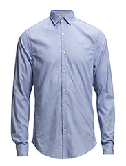 Dress shirt in structered weave - dessin A