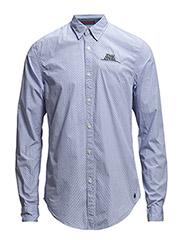 Crispy poplin shirt with fixed pochet - dessin C