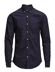 Longsleeve oxford weave shirt - dessin F