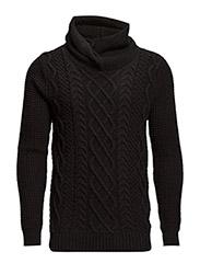 Twisted hood pullover - 90 black
