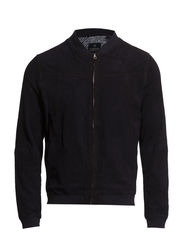 Slim fit clean suede bomber - 58 night