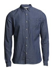 Deconstructed chambray worker shirt - Dessin E