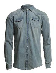 Classic denim western shirt - dessin B