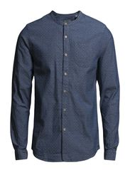 Lightweight grandad shirt with placket detail - Dessin E