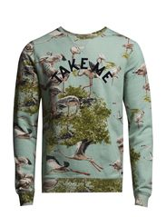 Allover print commando Miami sweat - dessin B