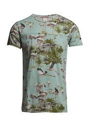 Constructed tee with allover prints - Dessin D