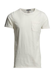 Home Alone constructed 1 pocket tee - 01 denim white