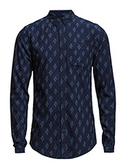 Pure indigo shirt series with refined details - Dessin C