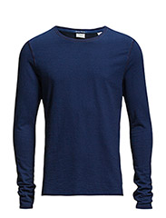 Home Alone long sleeve tee in special qualities - 51 indigo