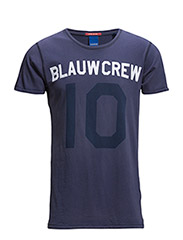 Amsterdams blauw washed text tee - 57 navy