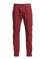 Theon Chino- Garment Dye - 27 MAROONED