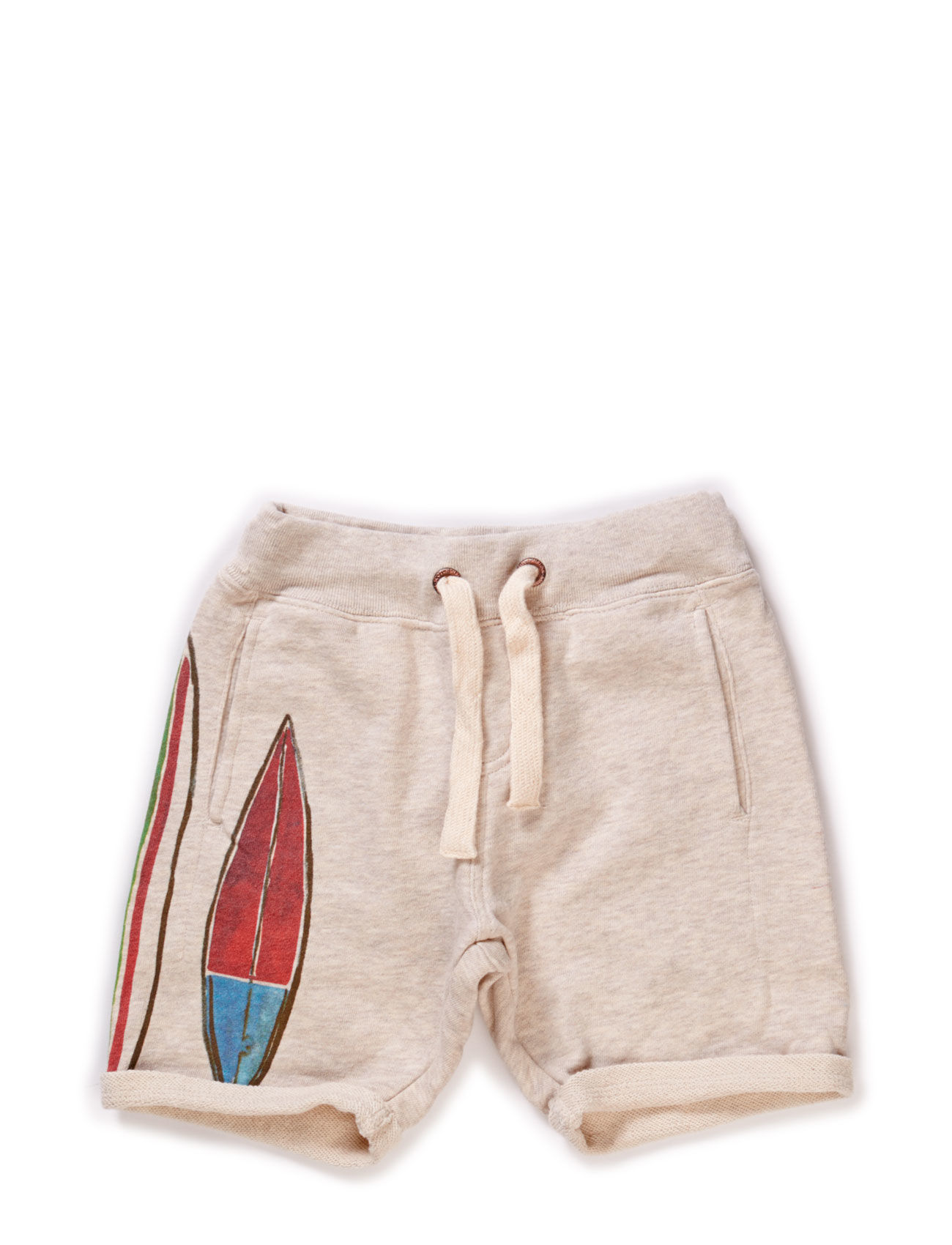 Sweat Shorts With Surfboard Artworks
