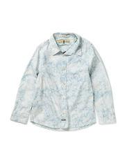 Shirt with bleach & tie dye effect - C-dessin C