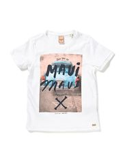 Tee with rock inspired artworks - 00 white