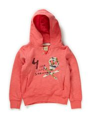 Worked out hoody with patches - 25-coral fever