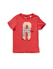 Tee with S-H-R-U-N-K artworks - 30 red