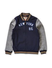College sweat jacket with contrast sleeves - dessin B