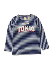 Striped boatneck tee in heavy jersey quality - dessin A