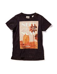 Rocker tee with acid washing & artworks - 95 antra