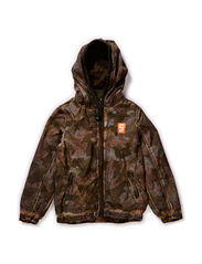 Nylon jacket with allover prints & mesh lining - 83 camouflage