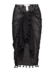 Cotton Gauze Sarong - BLACK