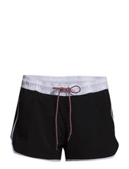 Beach Runner Boardshort - Black/Wht