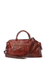 Leather Duffle Bag - Brown