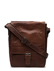 Leather Shoulder Bag - Brown