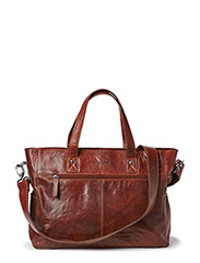 Womens Leather Carry On Bag - Brown