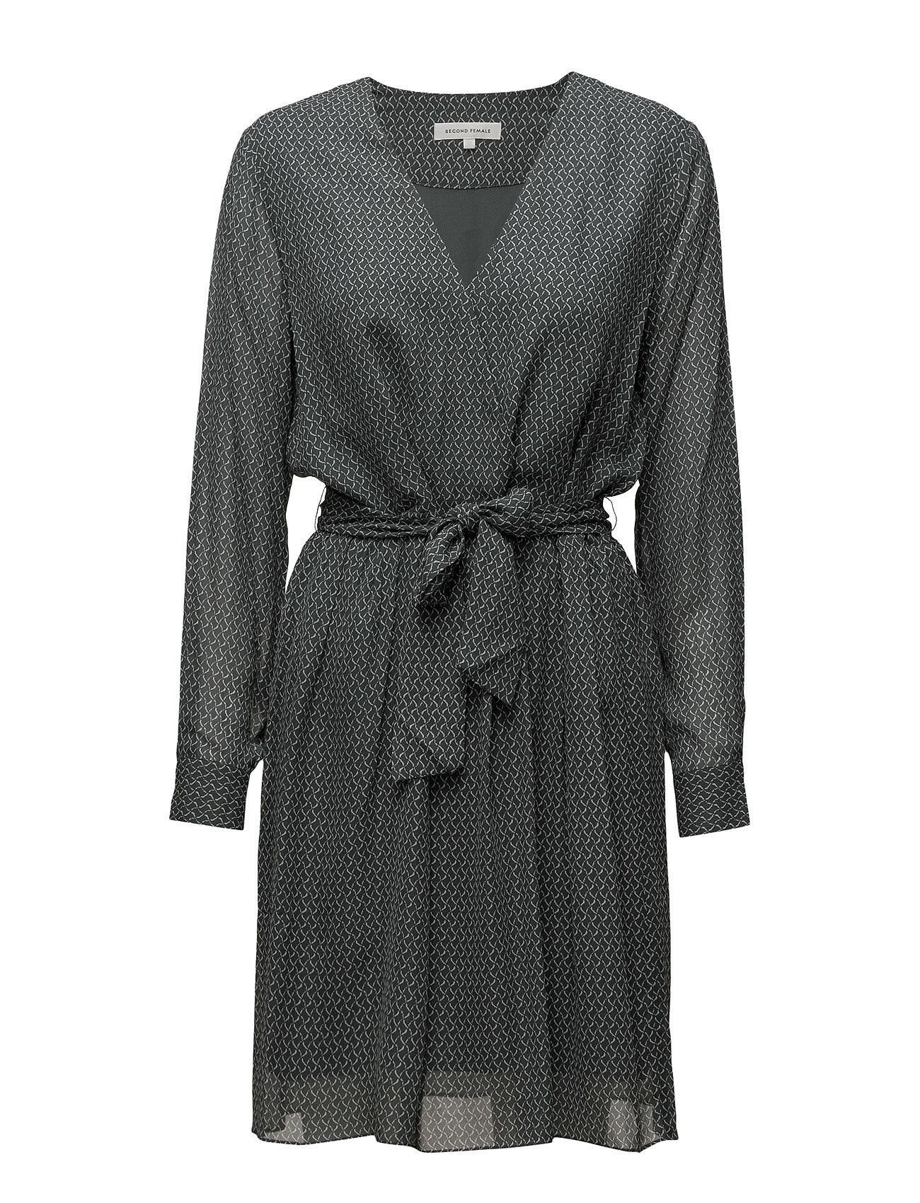 Story Dress Second Female Korte kjoler til Damer i Cypress AOP