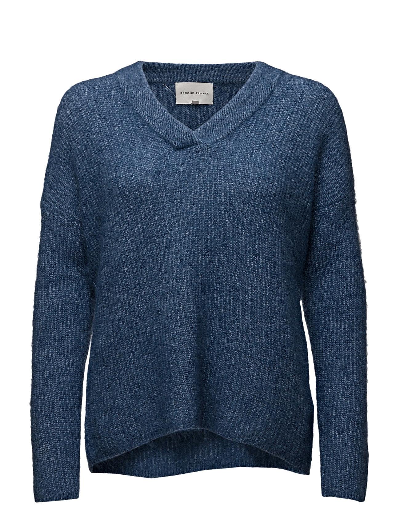 Nata Knit V-Neck Second Female Sweatshirts til Damer i