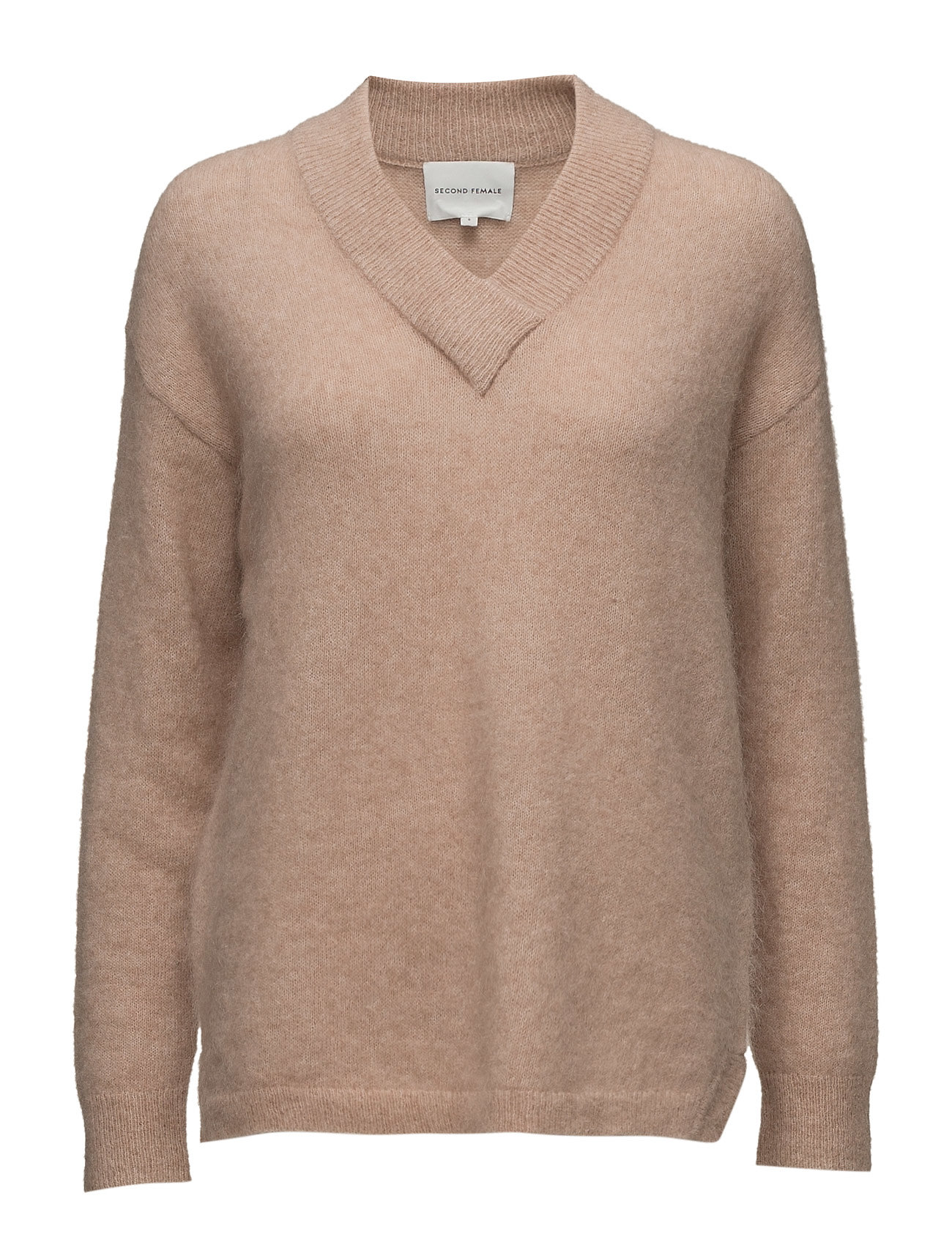 Brook Knit Deep V-Neck Second Female Sweatshirts til Damer i