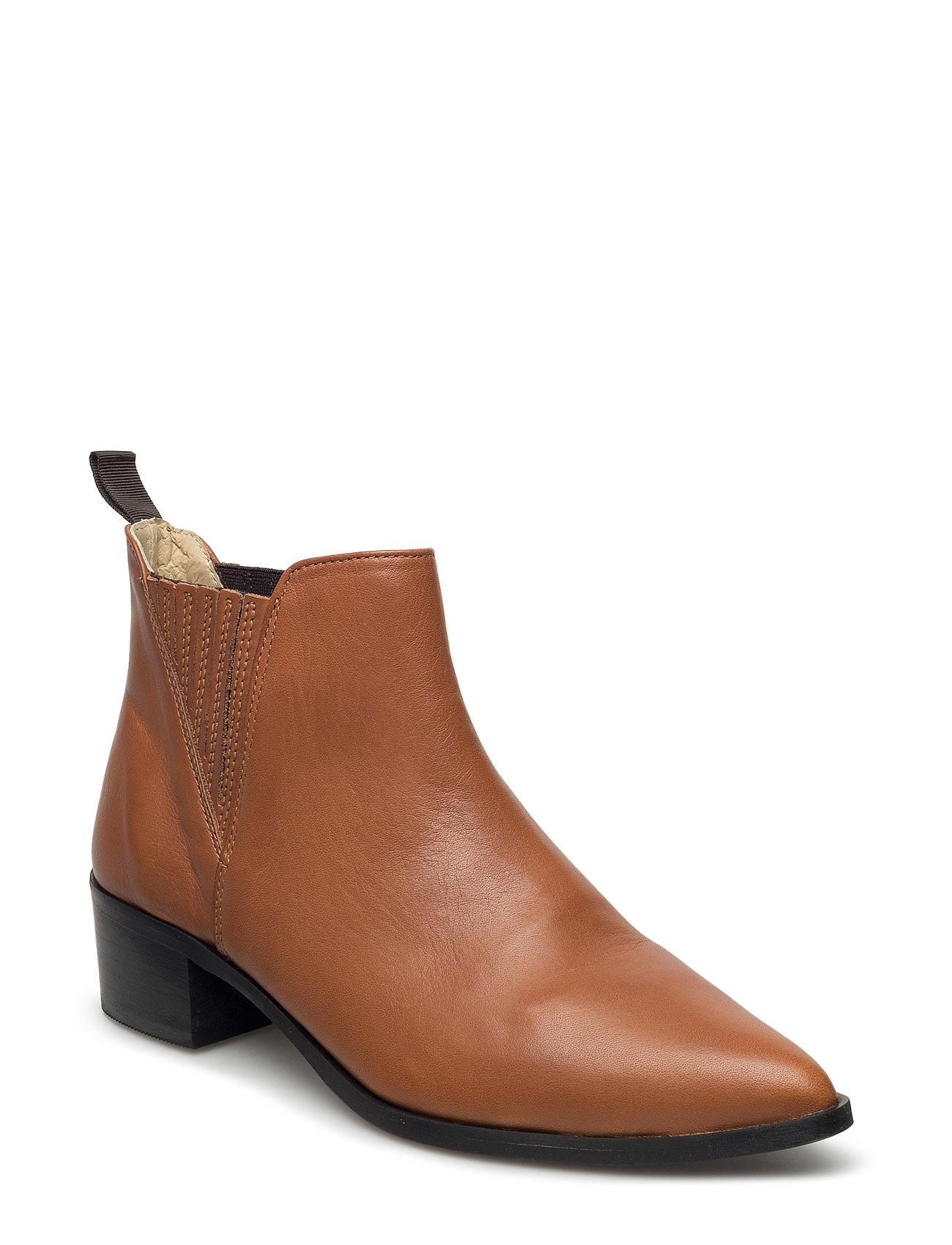 Zulu Ankle Boots Second Female Støvler til Kvinder i Brown Nut