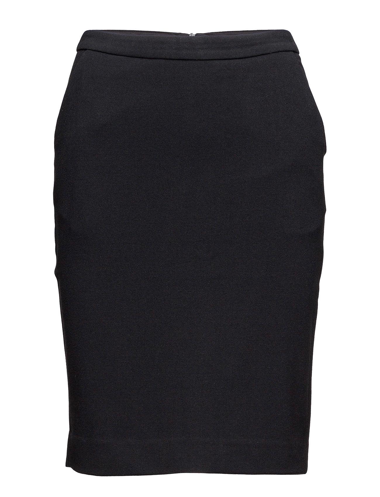 Gritta Skirt Second Female Knælange & mellemlange til Kvinder i Sort