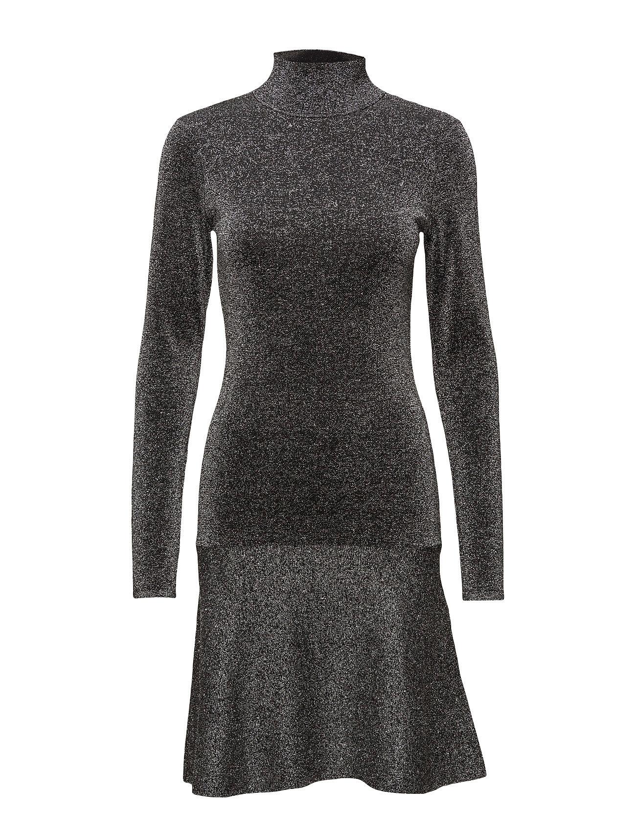 Lousin Knit Dress Second Female Knælange & mellemlange til Damer i Sort