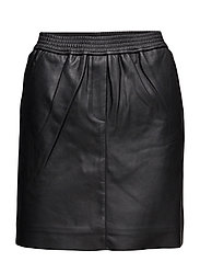 Adina Leather Skirt - BLACK
