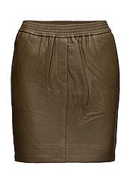 Adina Leather Skirt - Outdoor