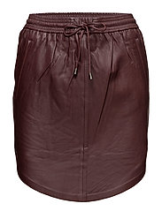 Pril Leather Skirt - PORT ROYALE