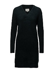 Brook Knit V-neck Dress - SCARAB