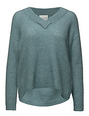 Brook Knit Deep V-neck - ARCTIC