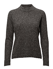 Charco Knit O-neck - Dark grey melange