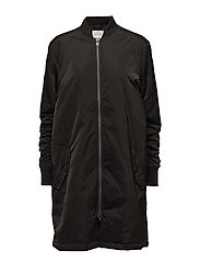 Mallory Bomber Coat - BLACK