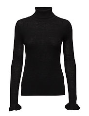 Kannisto Knit T-neck - BLACK