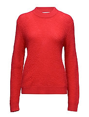 Manuka Knit O-neck - TRUE RED