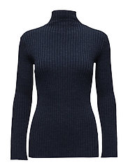 Bini Knit T-neck - NAVY