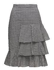 White Ruffles Skirt - WHITE