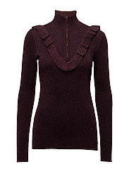 Idal Knit T-neck - PORT ROYALE