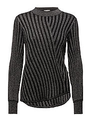 Birka Knit O-neck - BLACK